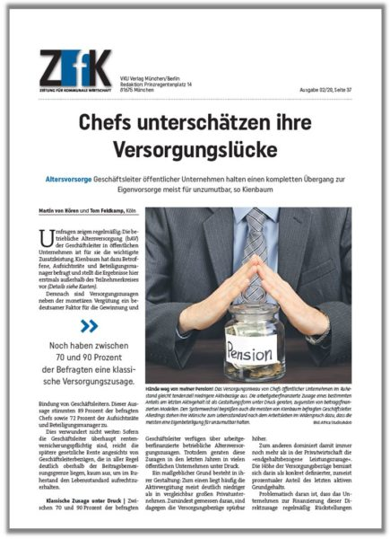 ZfK Chefs Unterschätzen Ihre Versorgungslücke Titelseite