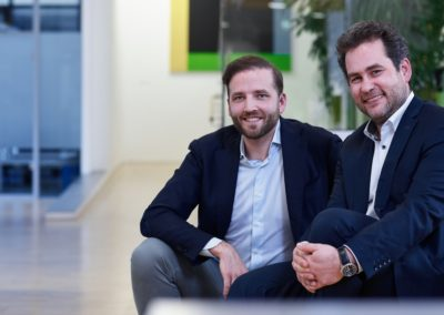 Fabian Kienbaum mit Moritz Ritter